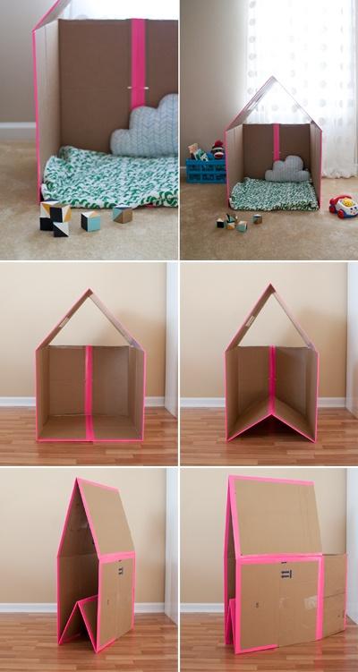 Collapsible Cardboard House Fun Crafts Kids