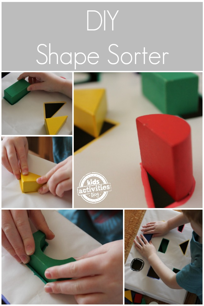 Cardboard Box Crafts: DIY Shape Sorter