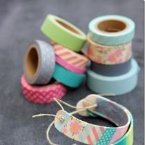 Craft Stick & Washi Tape Bracelets