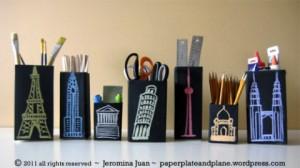 Juice carton crafts