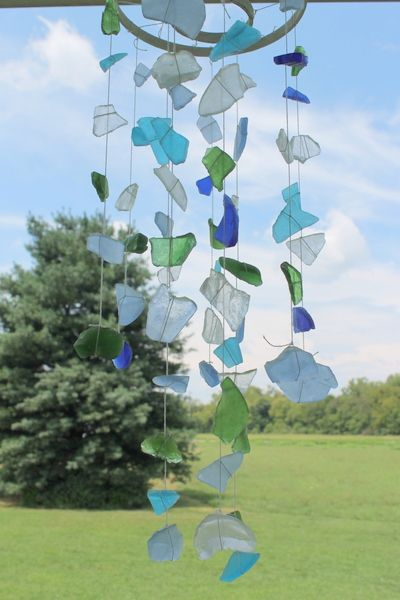 sea glass wind chimes a great seaside craft fun crafts