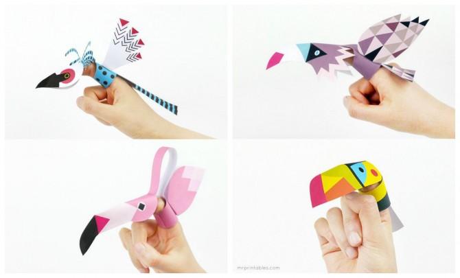 Finger Puppet Bird Printables