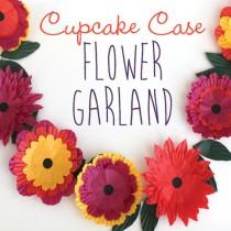 cupcake case flower garland