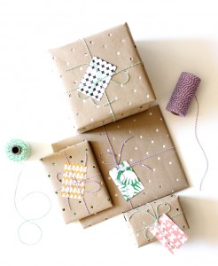 hole punch gift wrap