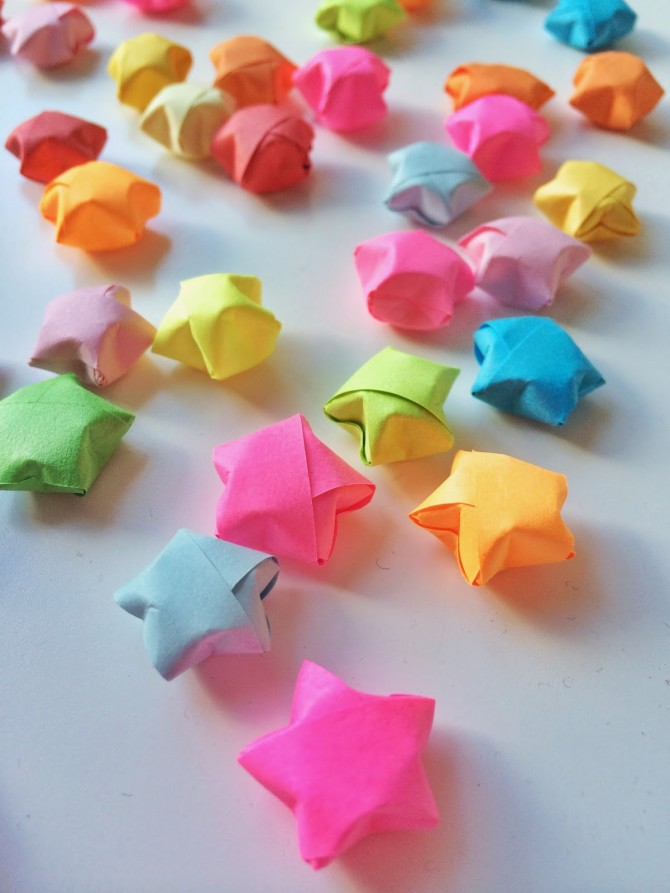 the gallery for gt how to make origami lucky stars