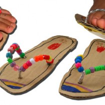 Summer Crafts: Cardboard Flip Flop Sandles