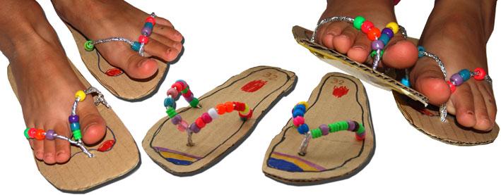Summer crafts cardboard flip flop sandles fun crafts kids for Flip flops for crafts