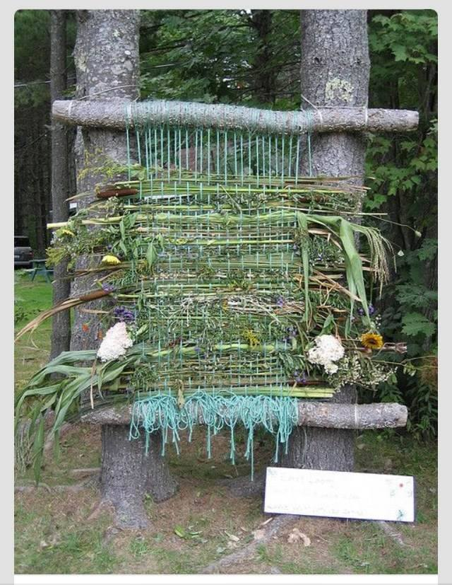 Weaving with weeds