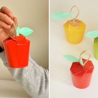 Paper Cup Apples