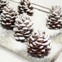 Edible Snowy Chocolate Pine Cones