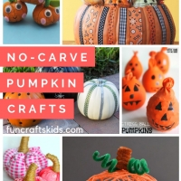 No-carve Pumpkin decorating crafts