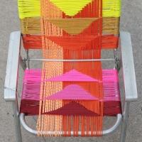 woven deckchair