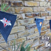 DIY Denim Flag Bunting