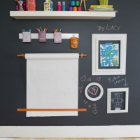 chalkboard paint desk space