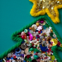Christmas Tree Crafts - bright & colourful
