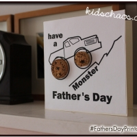 Cork Fathers Day Card Craft