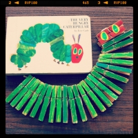 Clothes Peg Hungry Caterpillar