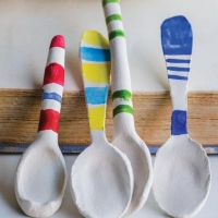 DIY Paper Clay Spoons