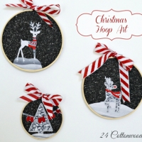 Winter & Christmas Hoop Art