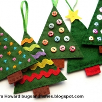 DYI Felt Ornaments - Christmas Tree