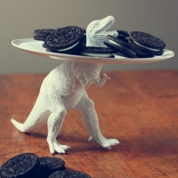 Dinosaur Cookie Plate (too cool)