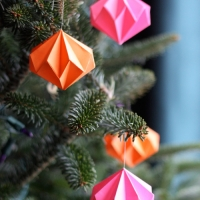 Diamond Origami Ornaments