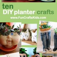Doll head planter and 10 of the best ideas for indoor garden upcycled pots Earth Day