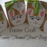 Easter craft: bunny bags for gifts