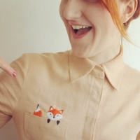 fox embroidered pocket