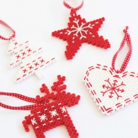 Scandi Hama Bead Ornaments