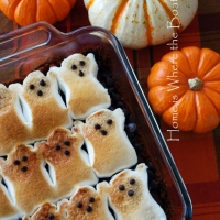 Halloween crafts - ghost brownies