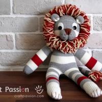 Sock Lion Pattern
