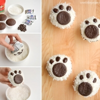 Easy Polar Bear Cupcakes