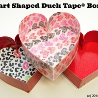 Heart Boxes Craft - using Duct Tape