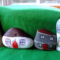 Rock Crafts - Painted Stone Village