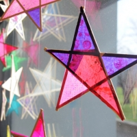 Craft Stick Paper Stars