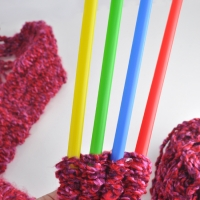 How To Knit with Straws
