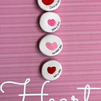 Thumbprint Heart Magnets