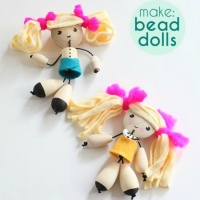 Wooden Bead Dolls