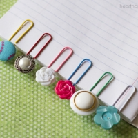 Button Crafts - Button Bookmarks
