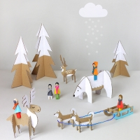Winter Wonderland - Peg Dolls & Free Printables