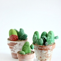 Painted Rock Cactus DIY