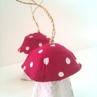Egg Carton Crafts - Mushrooms