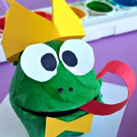 Egg Carton Frog Prince Craft