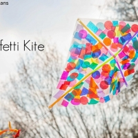 How to make a kite - confetti kite