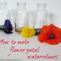 DIY Watercolors Made from Flowers!