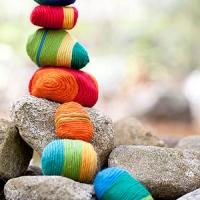 Yarn Wrapped Rocks