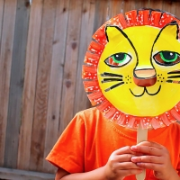 Gorgeous Paper Plate Lion Mask