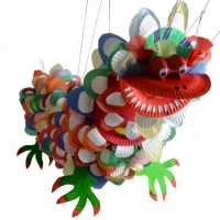 Chinese New Year Crafts - Paper Plate Dragon