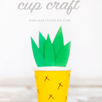 Pineapple Cup Craft (cute & simple)